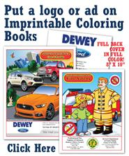 Imprintable Coloring Books