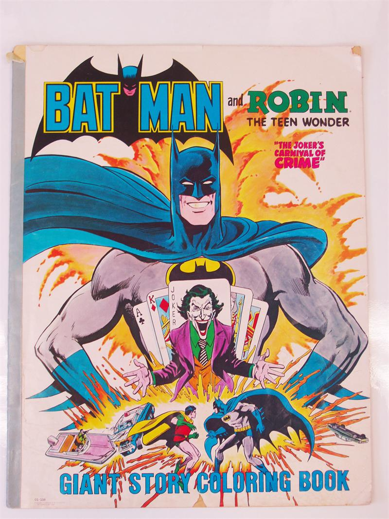 Coloring Books | Vintage Batman and Robin