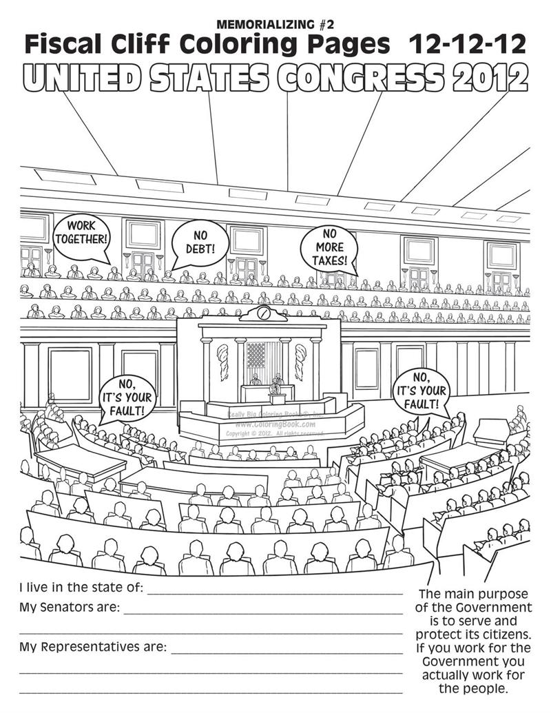 Coloring pages coloring book.com - Fiscal Cliff Coloring Book Pages