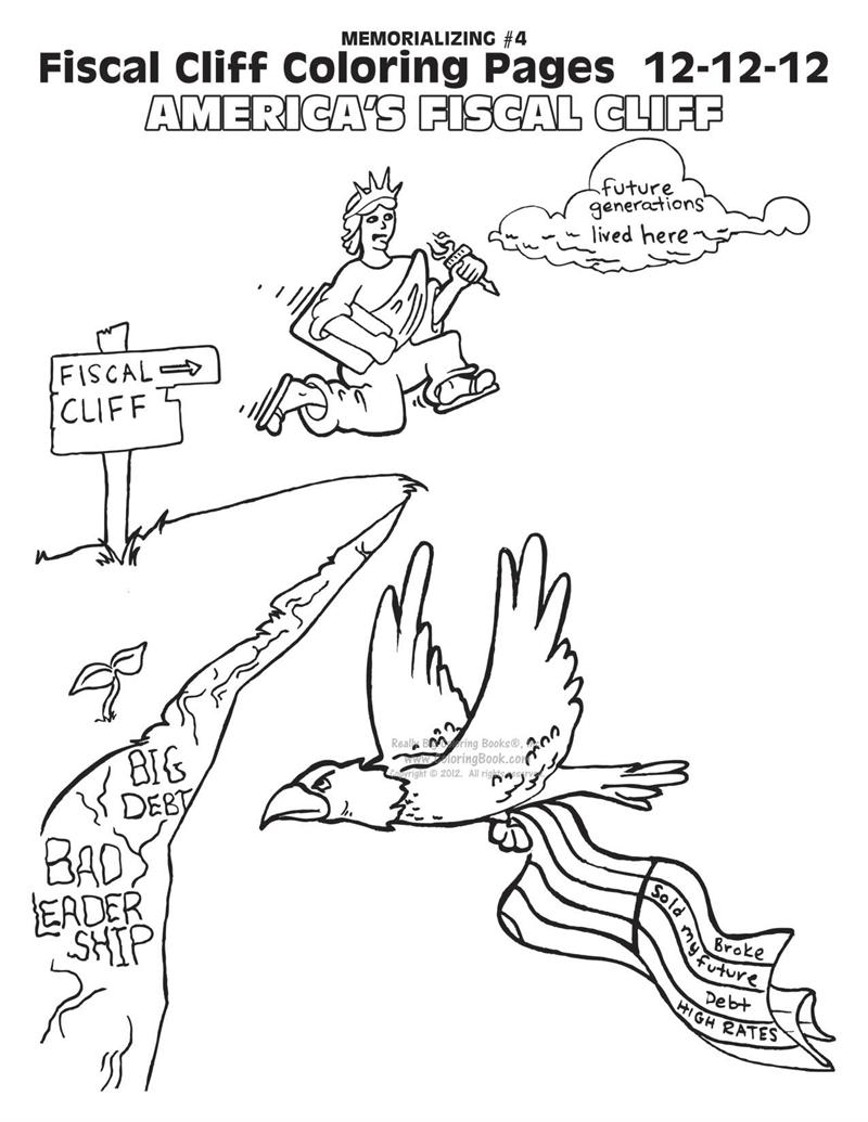 fiscal cliff coloring book pages - Online Book Pages