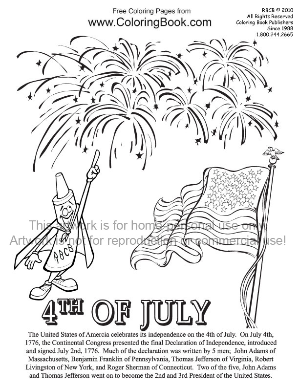 Coloring Pages Free Online Coloring Pages4th of July
