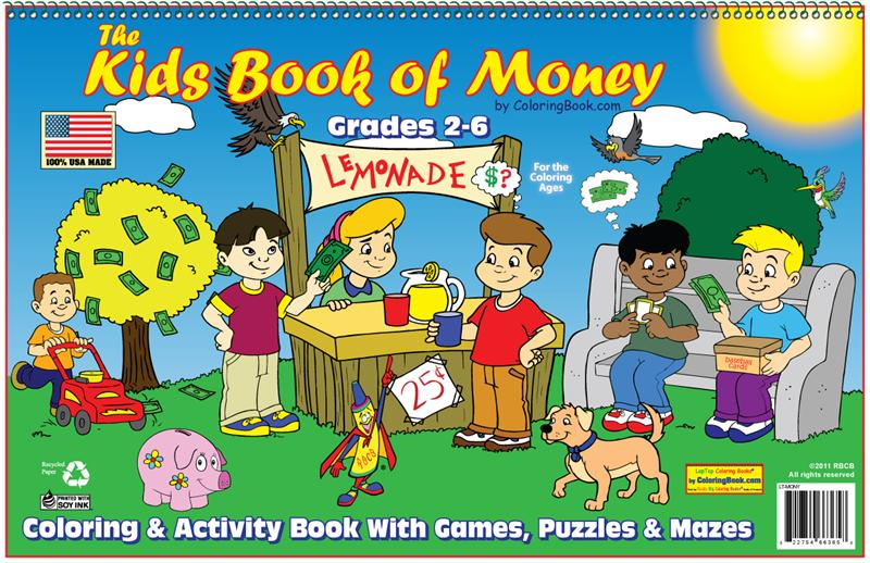 the kids book of money laptop coloring book - Coloring Book Kids