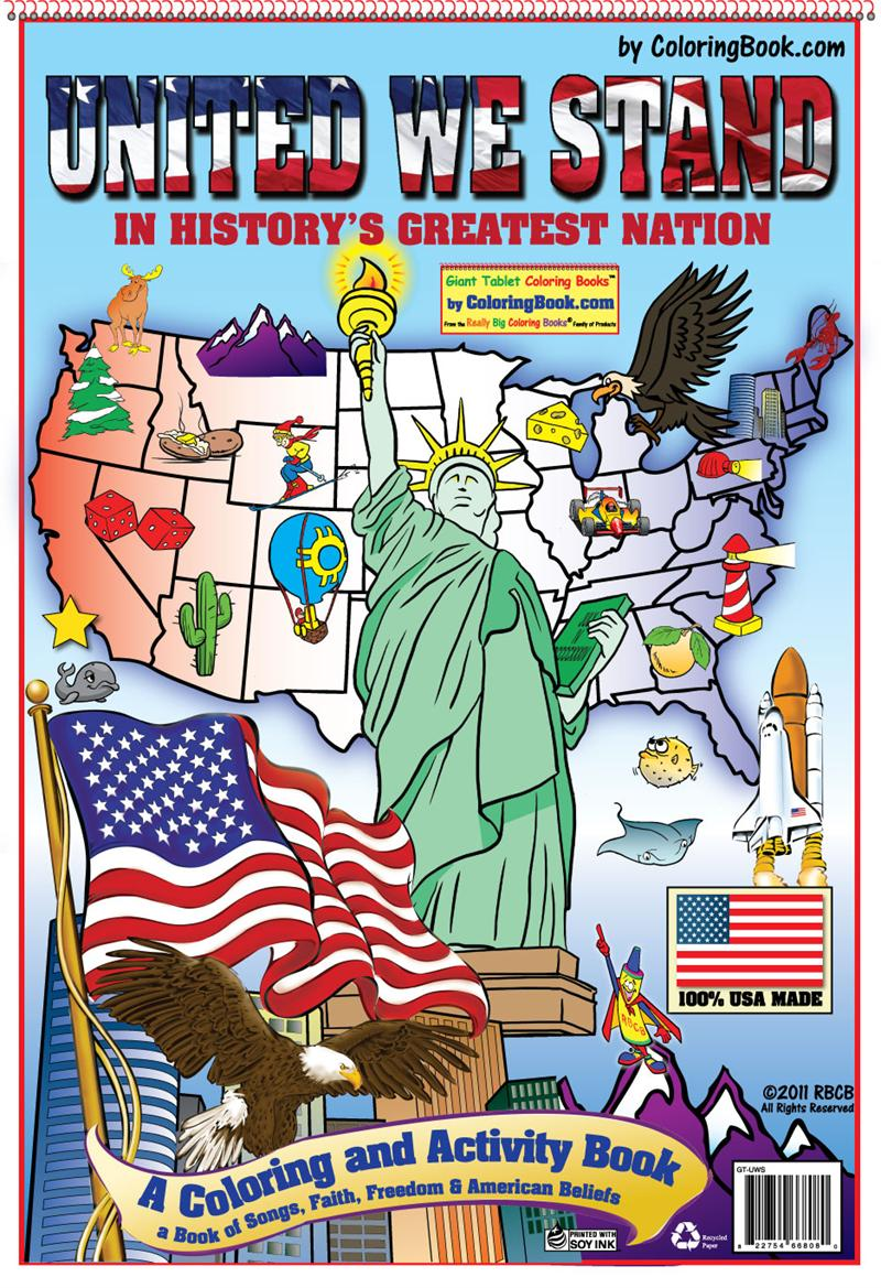 united we stand patriotic america coloring books