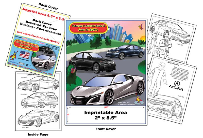 Imprint Cars Acura Coloring Book