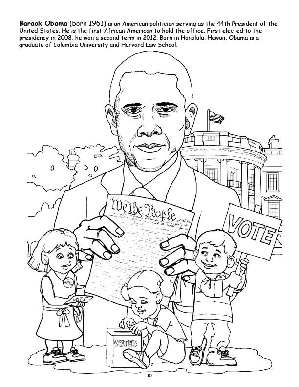 Beautiful Barack Obama Coloring Book Images Coloring Page Design