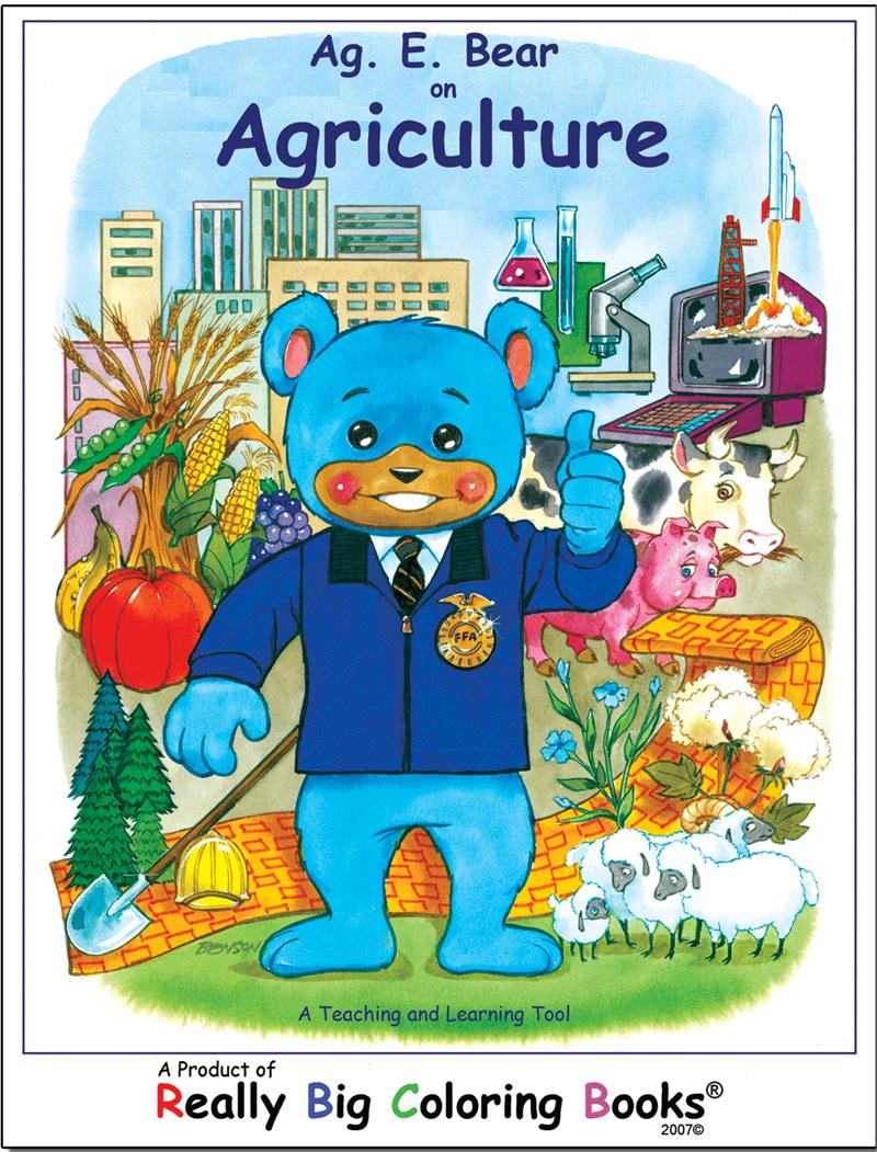 coloring books agriculture education bear really big coloring book