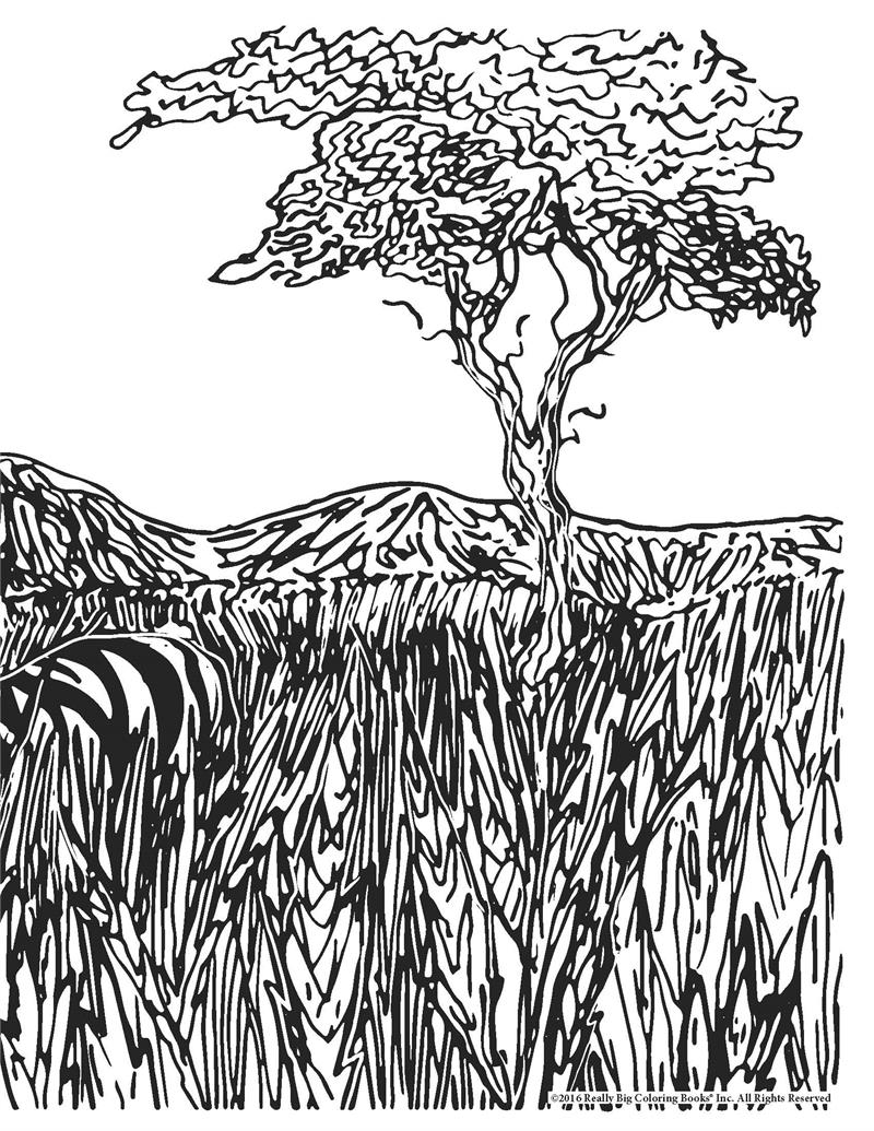 detailed landscapes coloring pages - photo#38