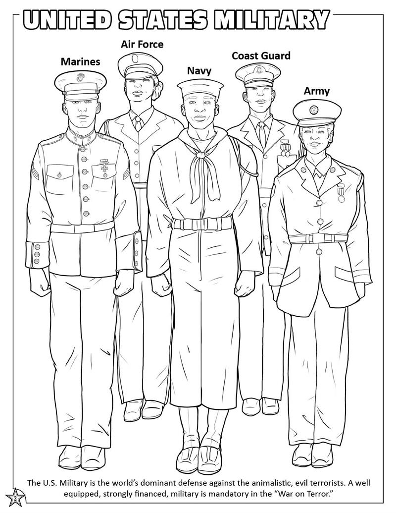 military color pages - u s military coloring page