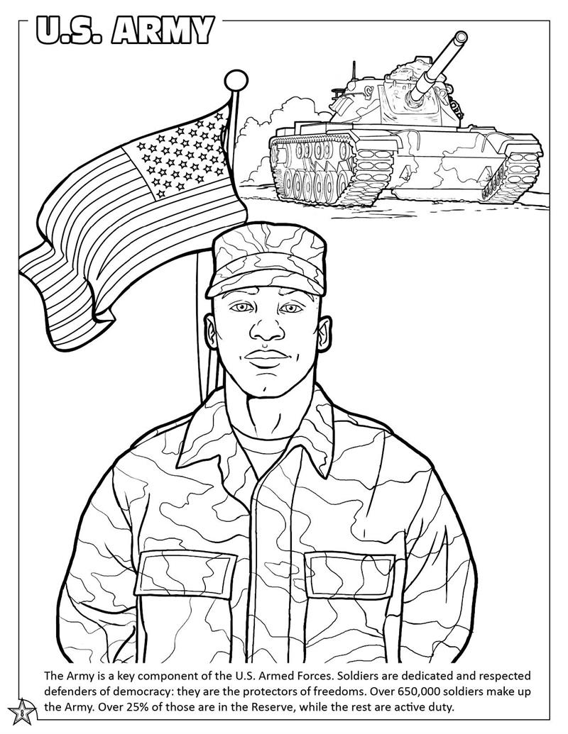 Printable Coloring Pages Army : Coloring Books United States Armed Forces Military Coloring and Activity Book