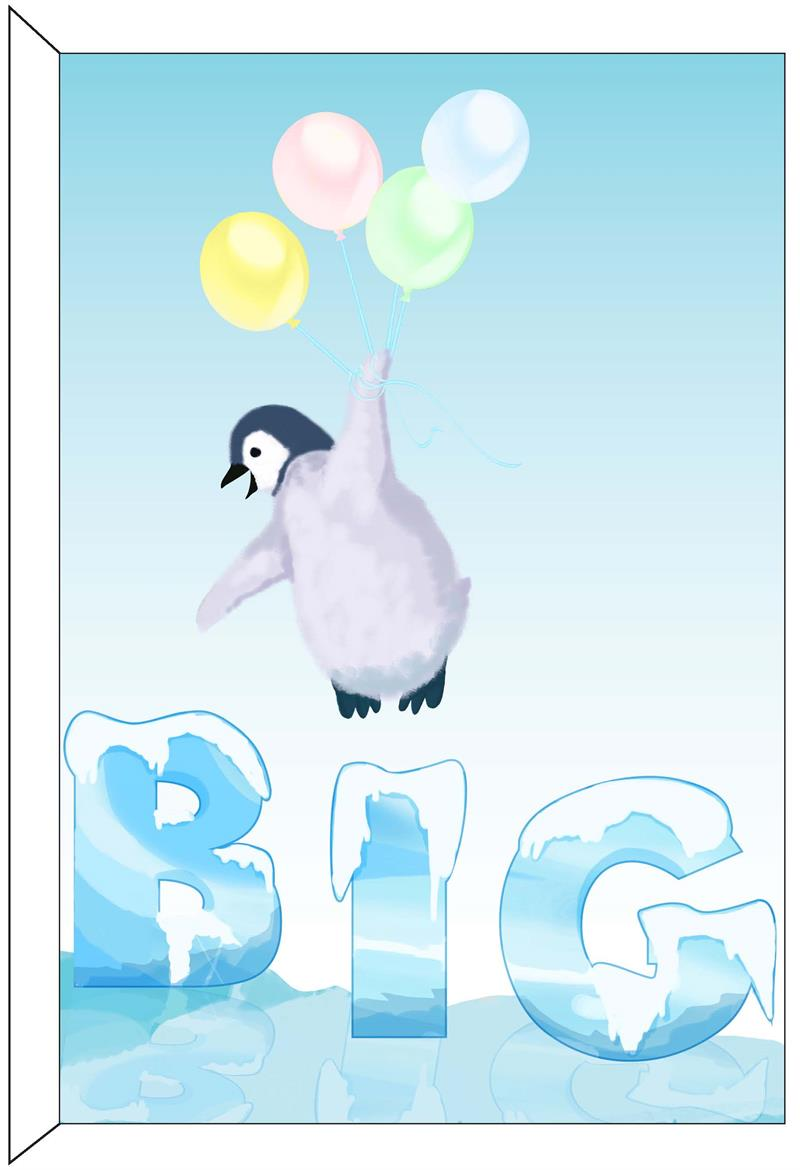 Greeting Cards Birthday Penguin Really Big Greeting Card