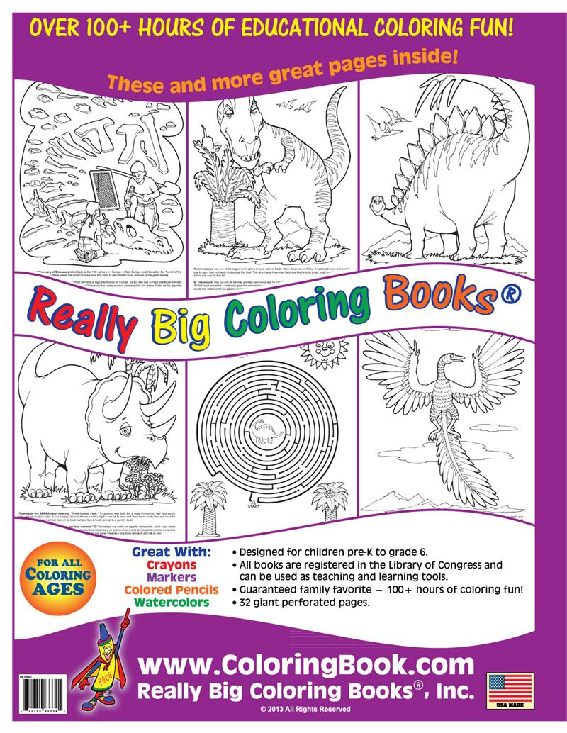 coloring books dinosaurs giant coloring book