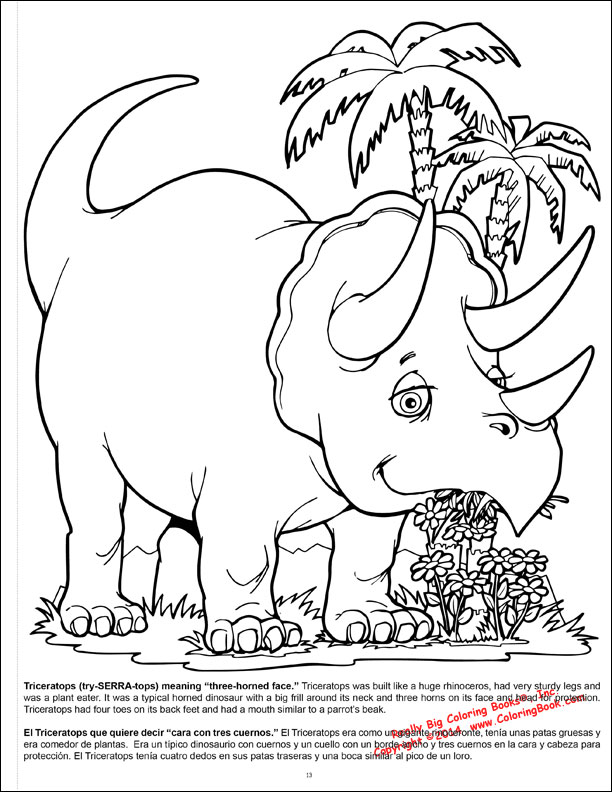 Coloring Books For Adults Dinosaurs : Coloring books dinosaurs giant book