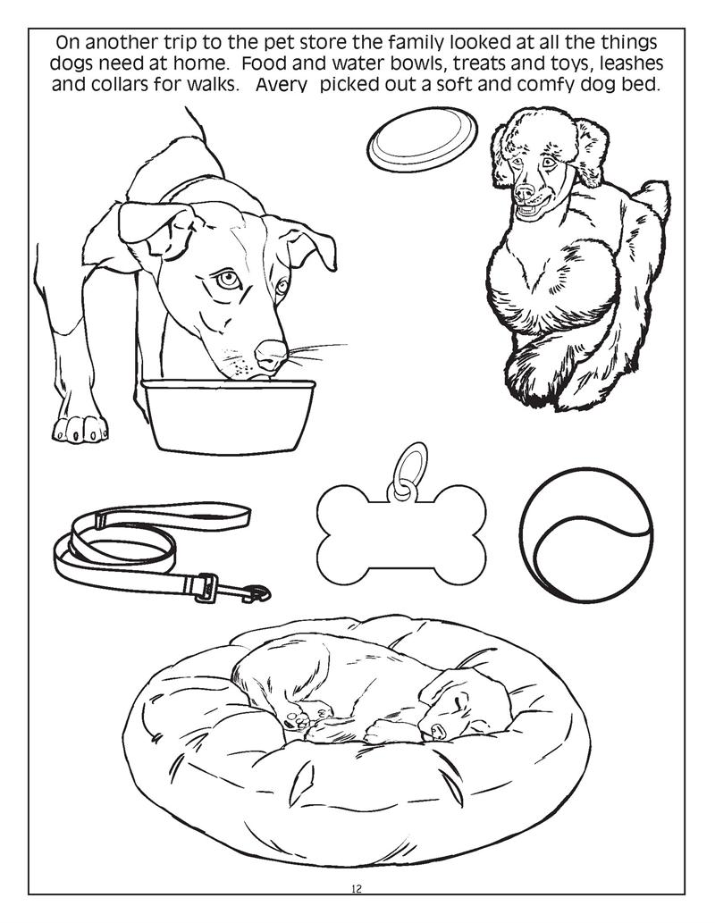 Book care coloring sheet - Personalized Cuddle Up With Dogs And Cats Coloring Book