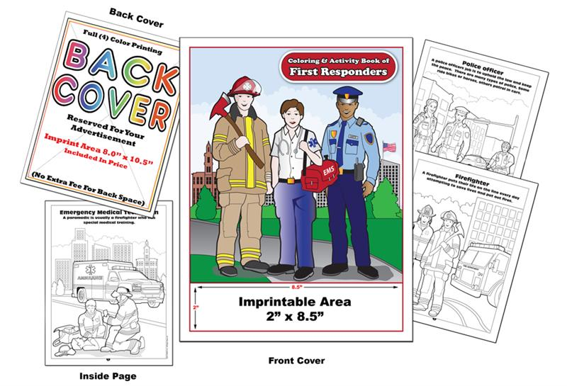 First Responders Imprintable Coloring Activity Book