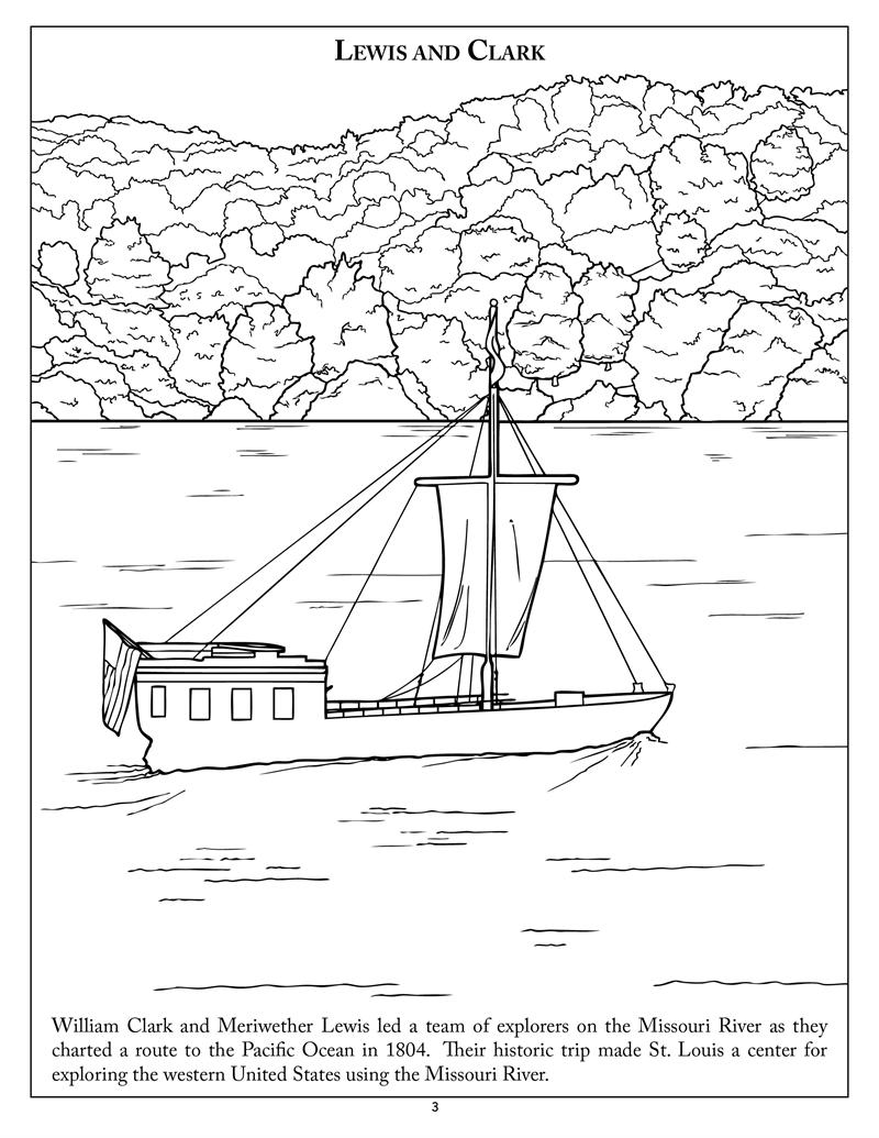 free coloring pages of lewis and clark. Black Bedroom Furniture Sets. Home Design Ideas