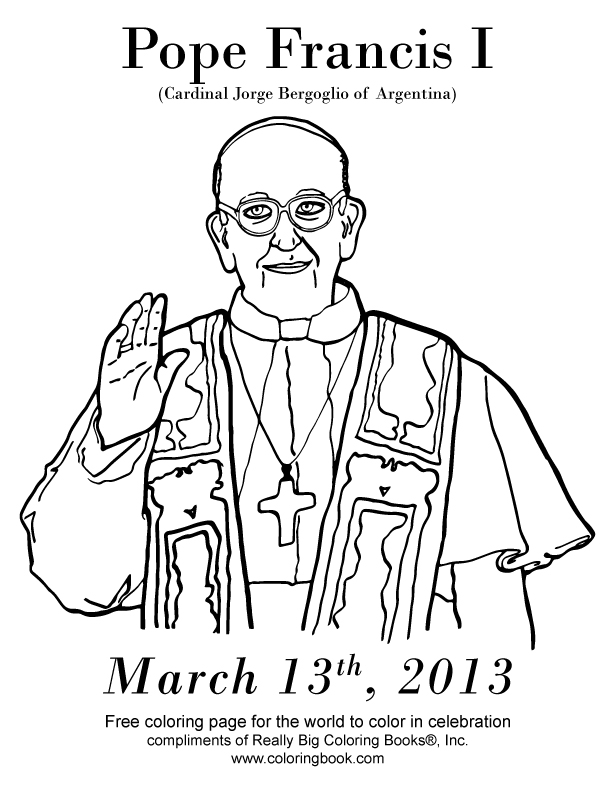 pope francis i coloring page free