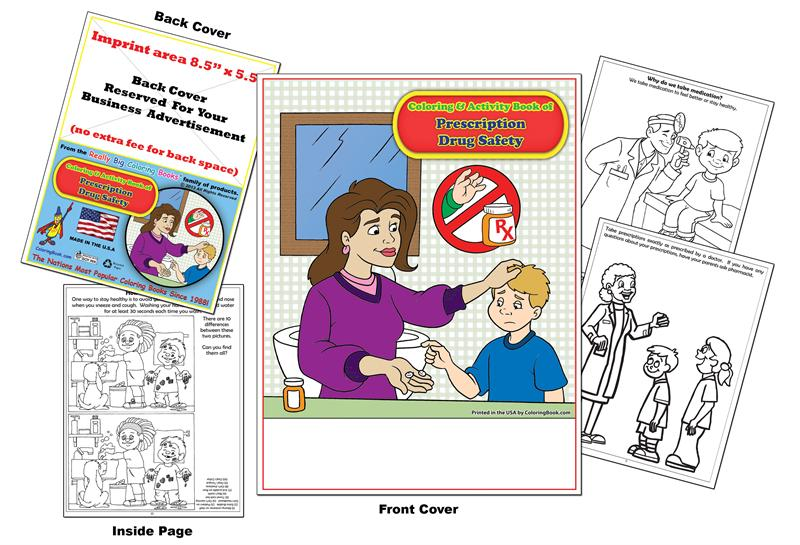 medicine safety coloring pages - photo#20