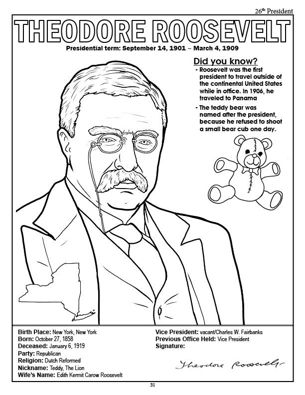 president abraham lincoln coloring page president theodore roosevelt coloring page president theodore roosevelt coloring page president john f kennedy