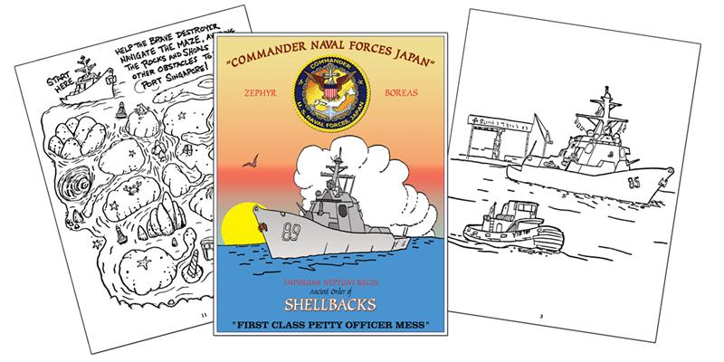 ancient order of the shellbacks custom coloring book - Custom Coloring Book