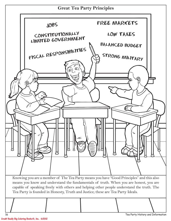 Coloring Books | Tea Party II Coloring Book Social Activism for Kids ...