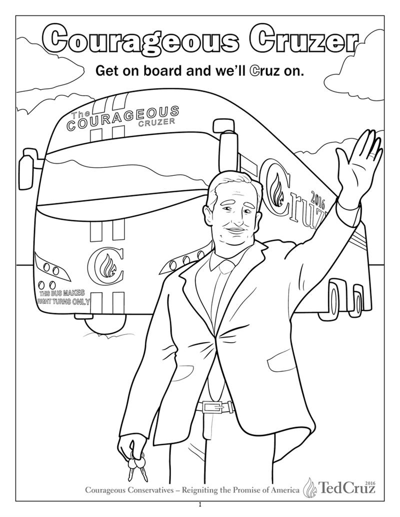 coloring books we c ted cruz for president coloring and activity