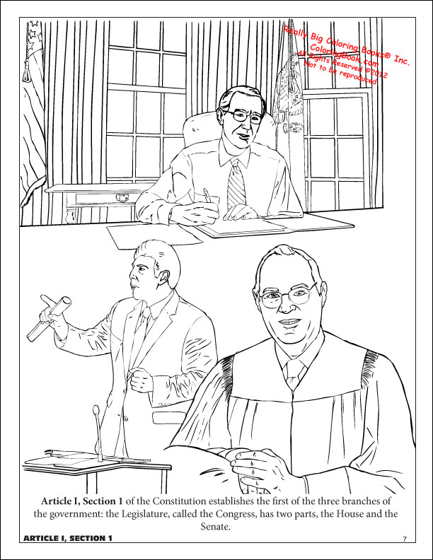 Coloring books u s constitution for kids activity book for Constitution day coloring pages