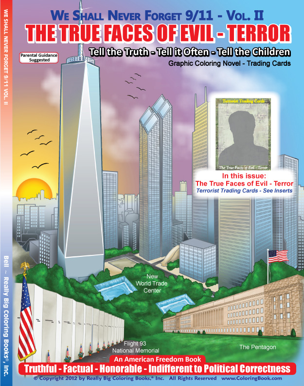 9 11 Coloring Book : Coloring Books Terrorists True Faces of Global Terror Adult Coloring Books