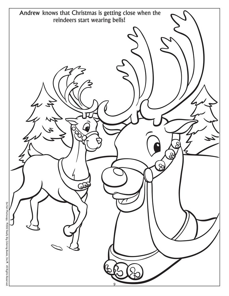 Winter fun coloring sheets - Personalized Winter Fun Coloring Book