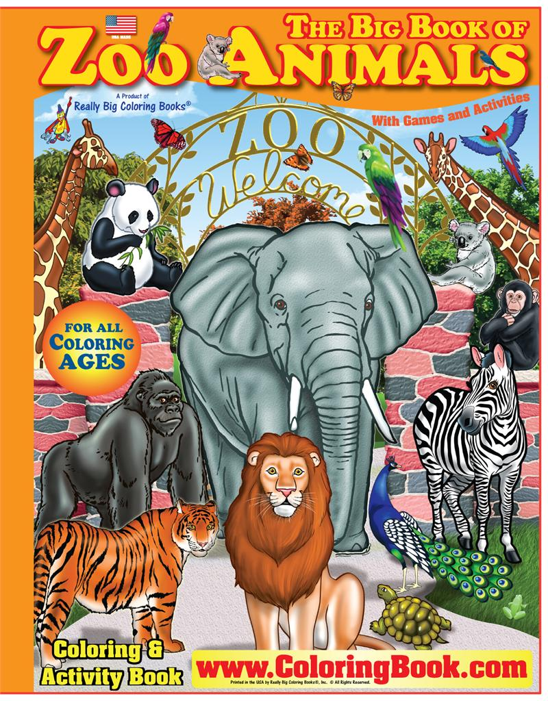 coloring book zoo coloring books zoo animals really big coloring book