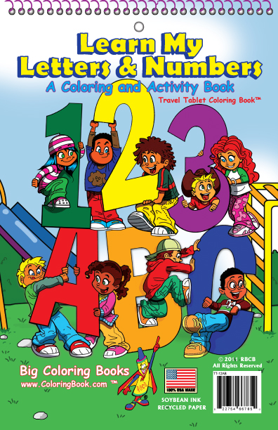learn my letters and number coloring book - Big Coloring Books