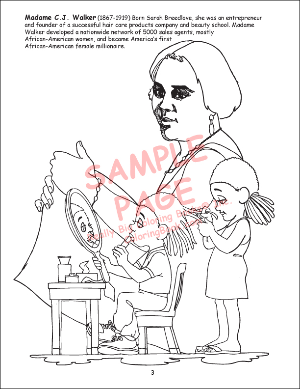free african american coloring pages - photo#20