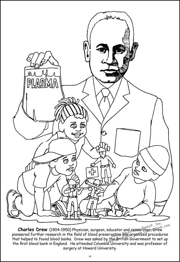 Coloring Books African American Leaders Giant Tablet