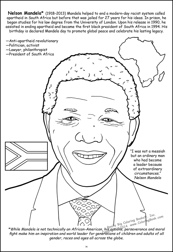 Nelson Mandela Giant Tablet Coloring Book