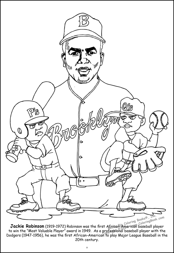 Jackie Robinson Coloring Page Quotes Jackie Robinson Coloring Page