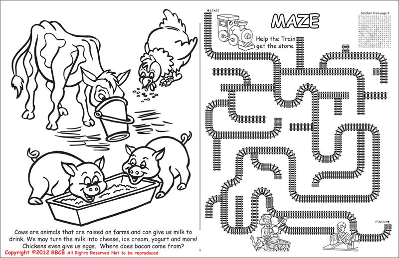 Yogurt Colouring Pages : Coloring books all about agriculture laptop