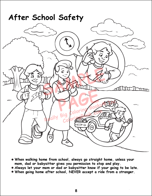 free coloring pages of electric safety
