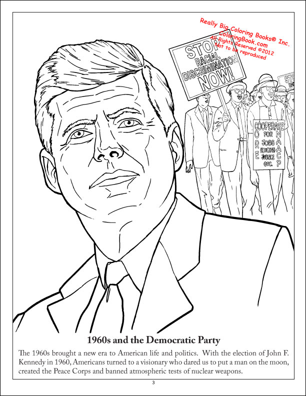coloring pages for democratic party - photo#11