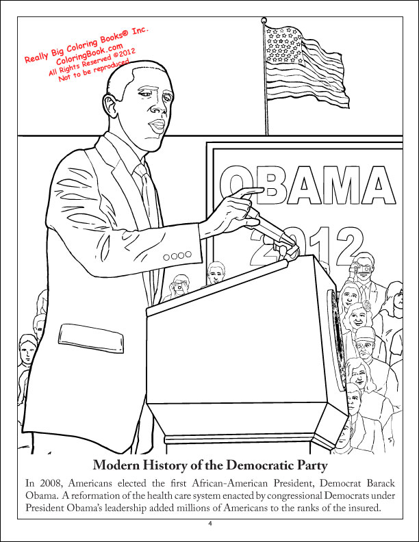Coloring Books Democratic Party Coloring And Activity Book