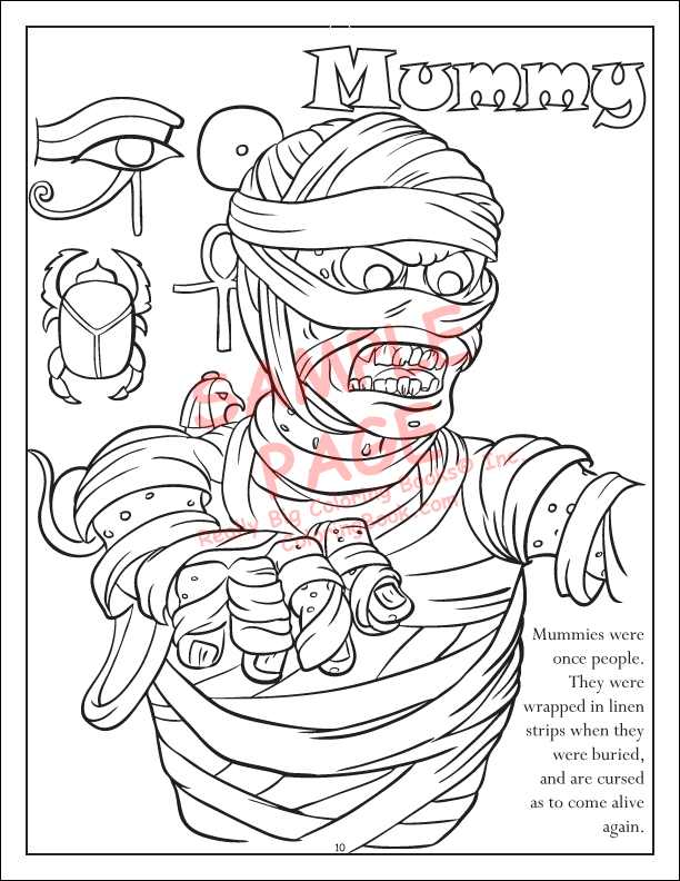 Black Cat Coloring Page Mummy