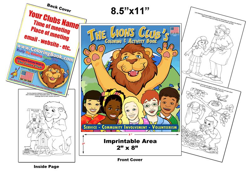 Lions Clubs Imprintable Coloring Book