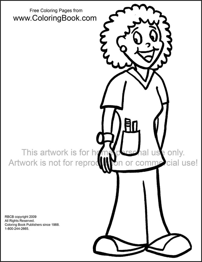 nurse coloring pages - photo#20