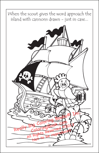 Pirate parrot coloring pages - photo#21