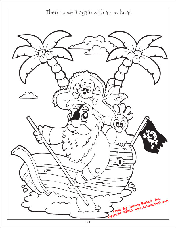Coloring Books Pirates Treasure Bandits Coloring Book Pirate Parrot Coloring Pages