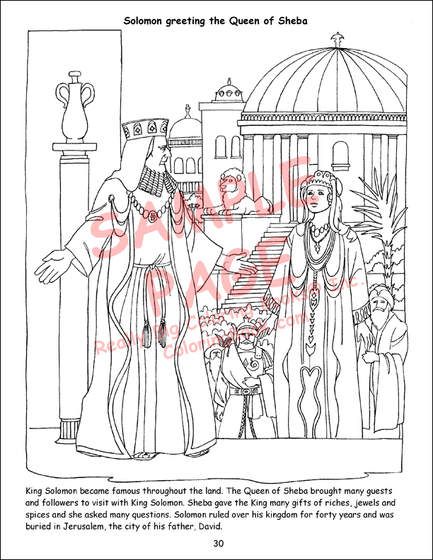 Bible Hero Coloring Pages