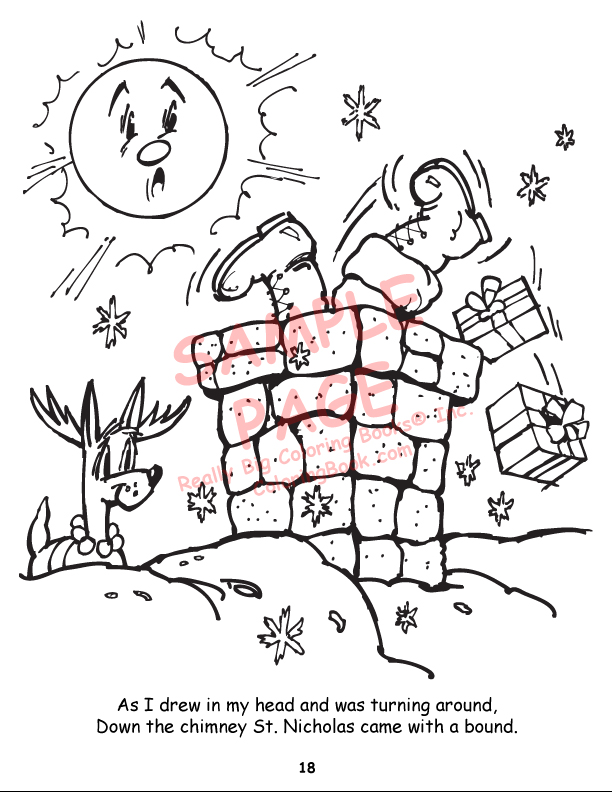 Coloring Books Twas The Night Before Christmas Power Panel Twas The Before Coloring Pages