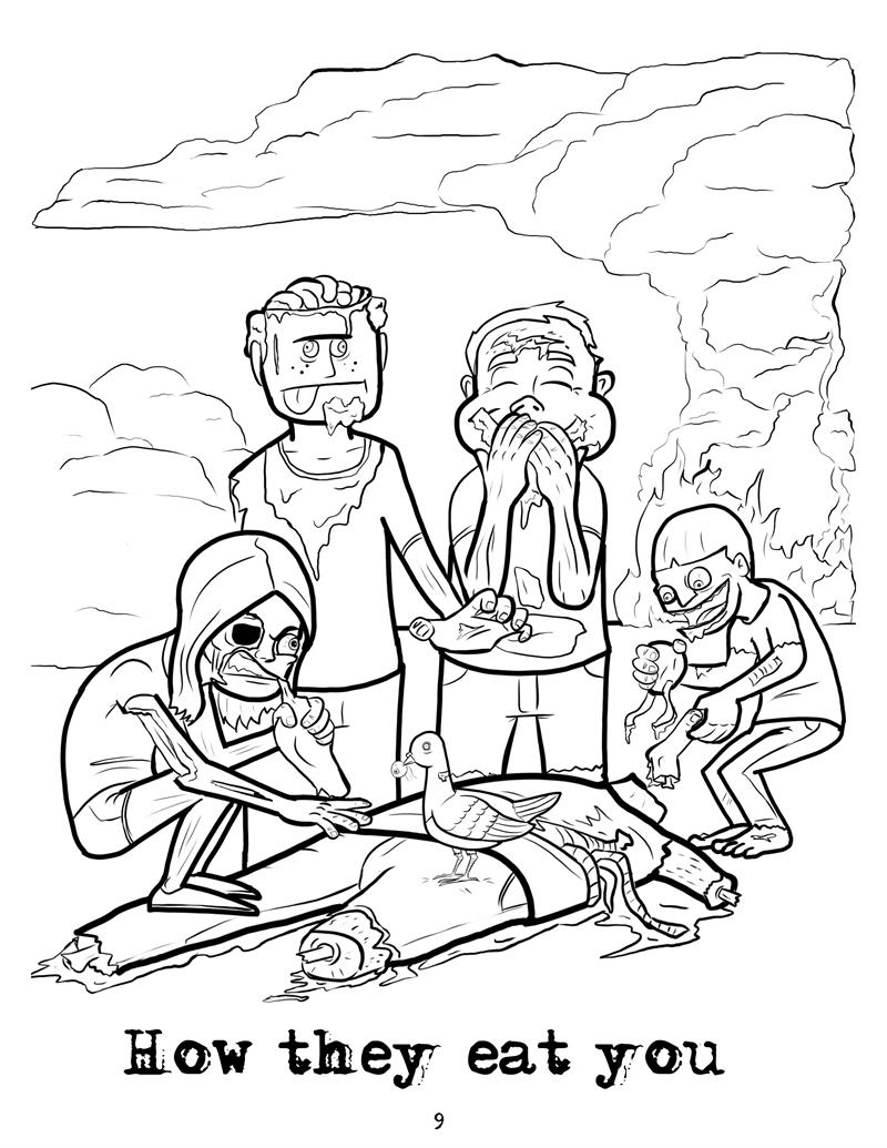 The zombie apocalypse coloring book - Zombie Scientist How They Eat You