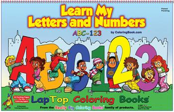 Learn My Letters and Numbers LapTop Coloring Book
