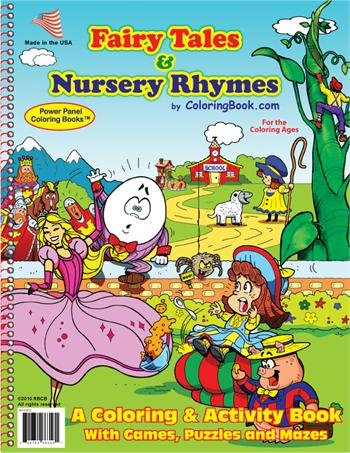 Fairy Tales & Nursery Rhymes Power Panel Coloring Book