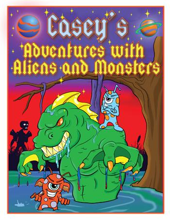 Personalized Adventures with Aliens and Monsters Coloring Book