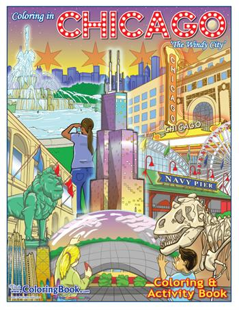 Chicago Coloring and Activity Book - The Windy City